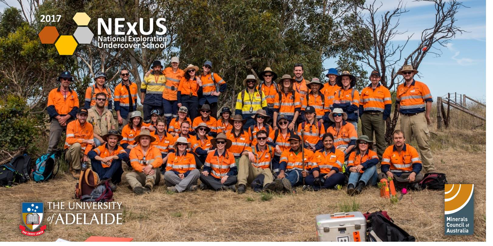 NExUS 2017 group on fieldwork in the Adelaide Hills